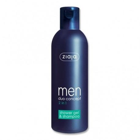 Ziaja men duo concept 2 in 1 shower gel & shampoo 300 ml