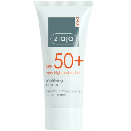 Ziaja med spf 50+ matifying cream 50 ml