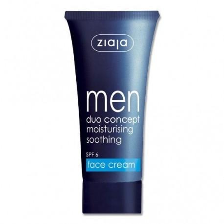 Ziaja men face cream duo concept moisturising soothing 50 ml