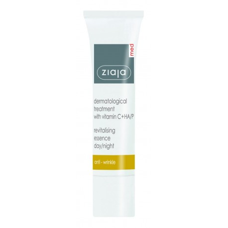 Ziaja med dermatological treatment with vitamin C + HA / P revitalising essence day/night 30 ml