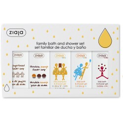 Ziaja family christmas gift set 5 x 200 ml