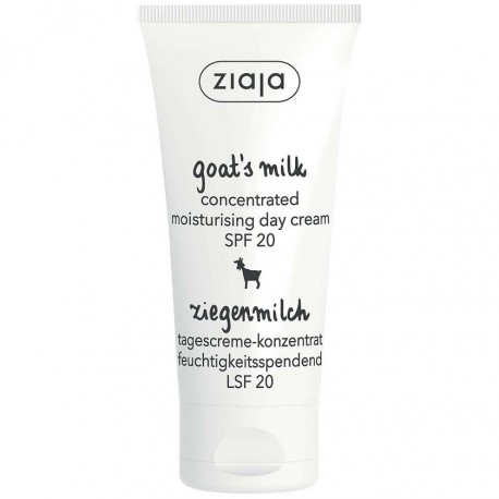 Ziaja goats milk concentrated moisturising day cream SPF 20, 50 ml