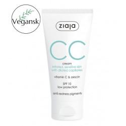 Ziaja CC wyciszający krem na podrażnioną wrażliwą skórę z rozszerzonymi naczynkami SPF 10 ochrona niska 50 ml