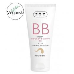 Ziaja BB aktywny krem na niedoskonałości skóry normalnej, suchej i wrażliwej odcień naturalny 50 ml