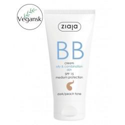 Ziaja BB aktywny krem na niedoskonałości skóry tłustej i mieszanej odcień opalony brzoskwiniowy 50 ml